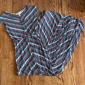 Jessica Simpson Maternity Striped Maxi Dress